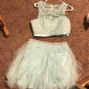 Sequin Hearts Teal two piece